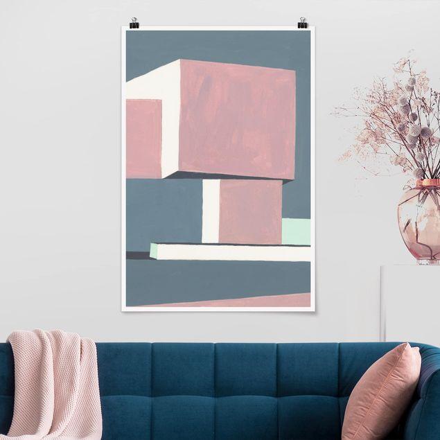 Poster - Schatten der Wände I - Hochformat 3:2
