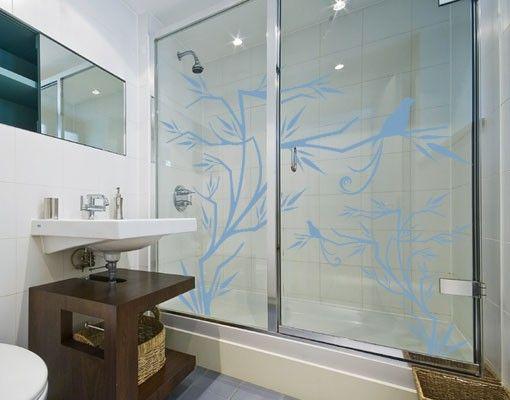 Fensterfolie - Fenstertattoo No.112 Japanischer Vogel - Milchglasfolie