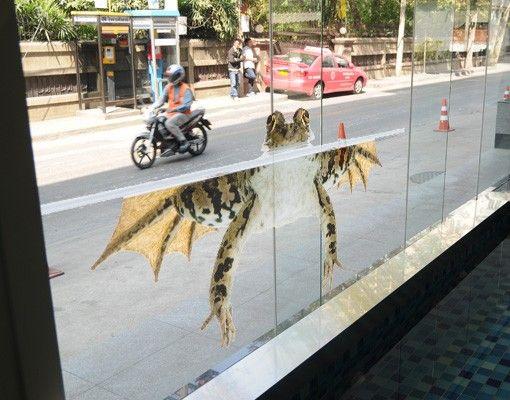 Fensterfolie - Fenstersticker No.384 Swimming Frog I - Fensterbilder