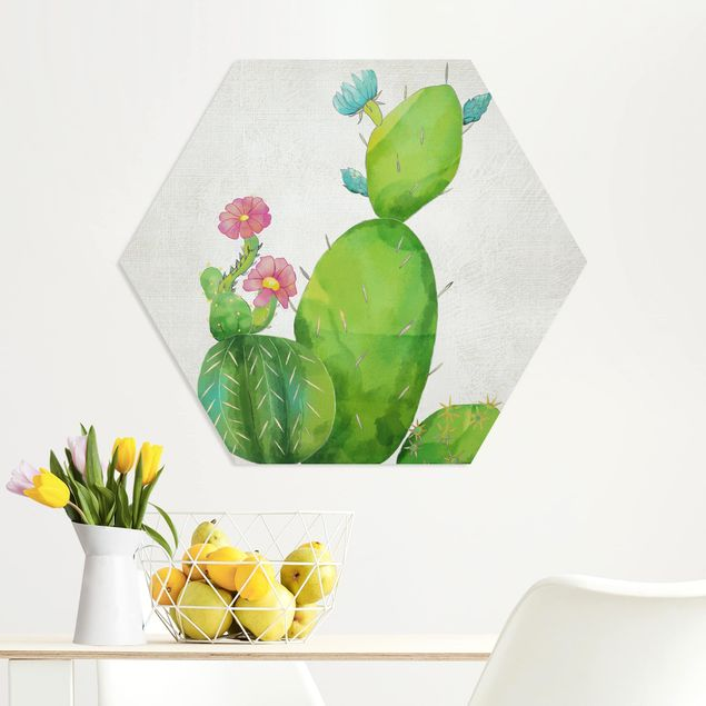 Hexagon Bild Forex - Kaktusfamilie rosa türkis