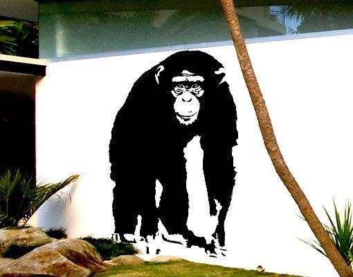 Wandtattoo Affe No.TA10 Schimpanse