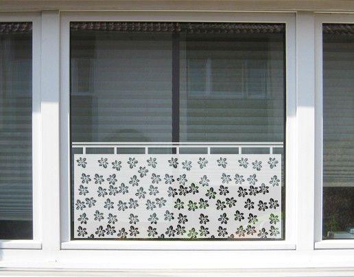 Fensterfolie - Sichtschutzfolie No.UL7 Streublümchen Gardine I - Milchglasfolie