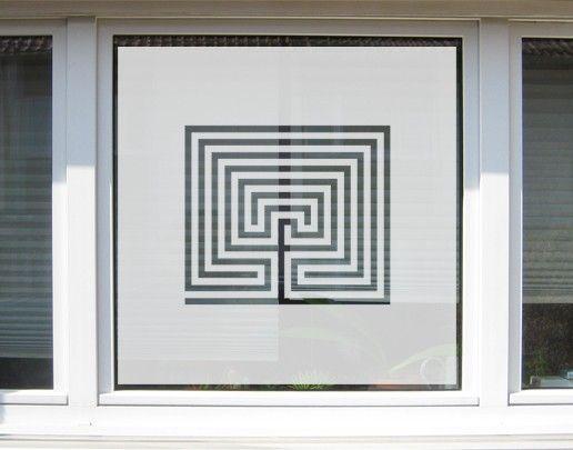 Fensterfolie - Sichtschutzfolie No.UL13 Labyrinth - Milchglasfolie