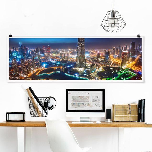 Poster - Dubai Marina - Panorama Querformat