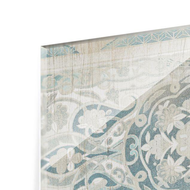 Glas Spritzschutz - Holzpaneel Persisch Vintage IV - Querformat - 4:3