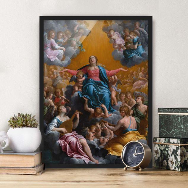 Bild mit Rahmen - Guido Reni - Himmelfahrt Mariens - Hochformat 3:4