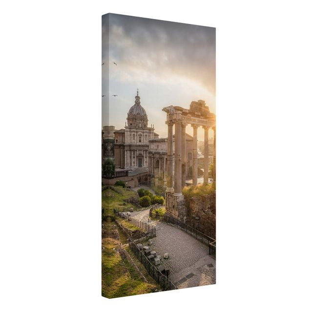 Leinwandbild - Forum Romanum bei Sonnenaufgang - Hochformat 1:2
