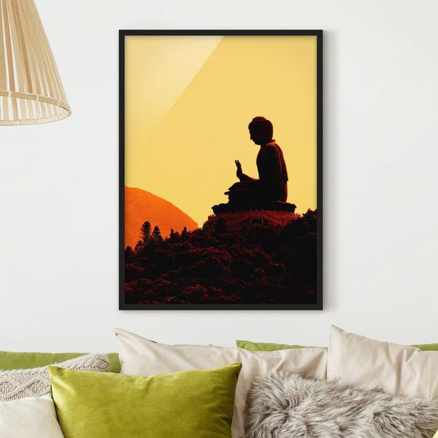 Bild mit Rahmen - Resting Buddha - Hochformat 3:4