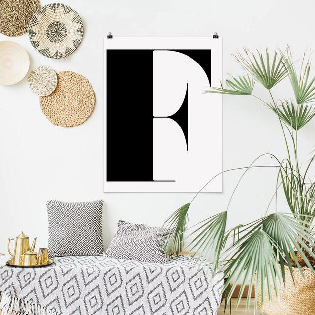 Poster - Antiqua Letter F - Hochformat 3:4