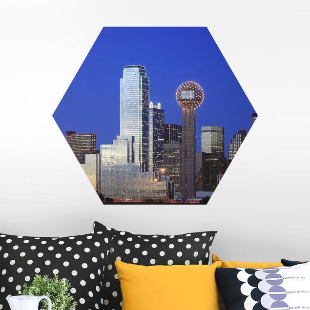 Hexagon Bild Alu-Dibond - Dallas