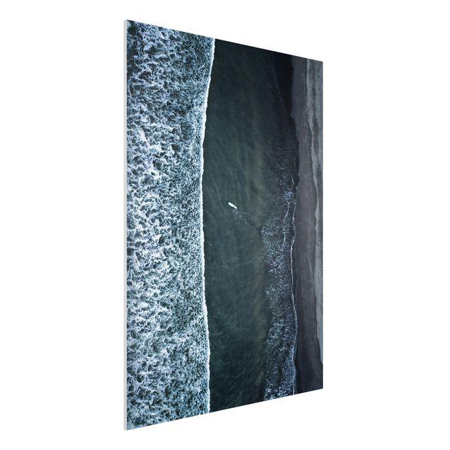 Forex Fine Art Print - Luftbild - Der Herausforderer - Hochformat 4:3