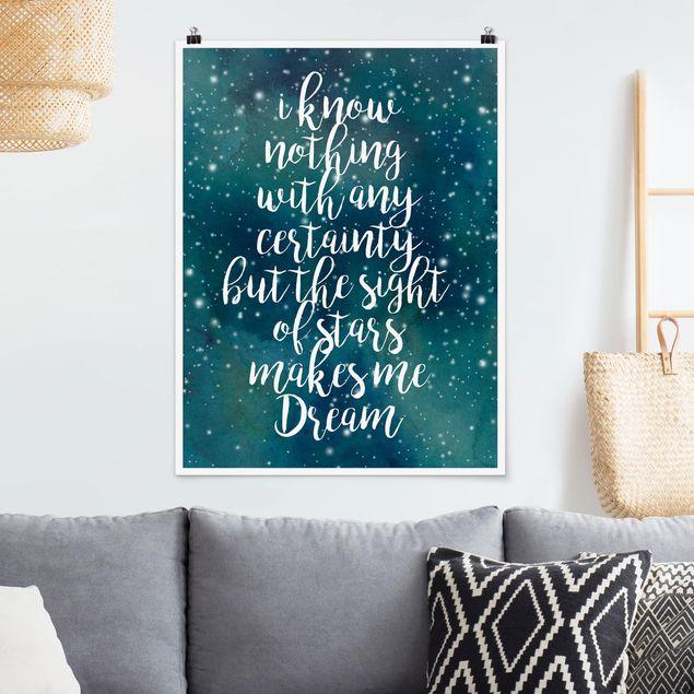 Poster - Sternenhimmel Gewissheit - Hochformat 3:4