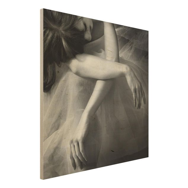 Holzbild - Die Hände einer Ballerina - Quadrat 1:1