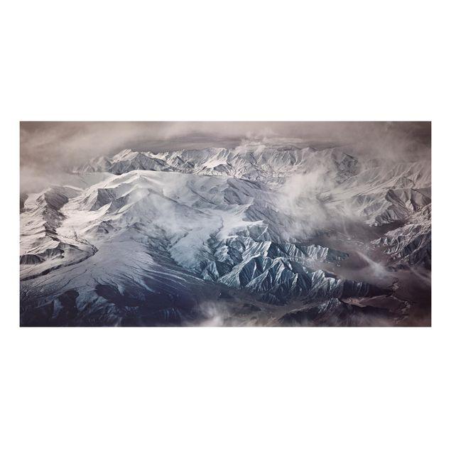Forex Fine Art Print - Berge von Tibet - Querformat 1:2