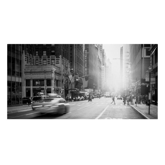 Leinwandbild - Lebhaftes New York - Querformat 2:1