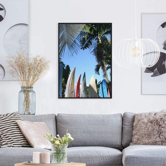 Bild mit Rahmen - Surfers Paradise - Hochformat 3:4