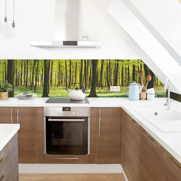 Küchenrückwand - Waldwiese