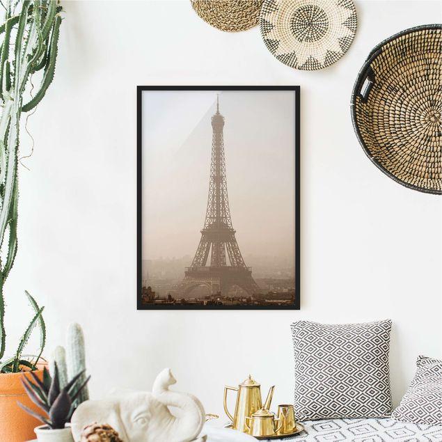 Bild mit Rahmen - Tour Eiffel - Hochformat 3:4