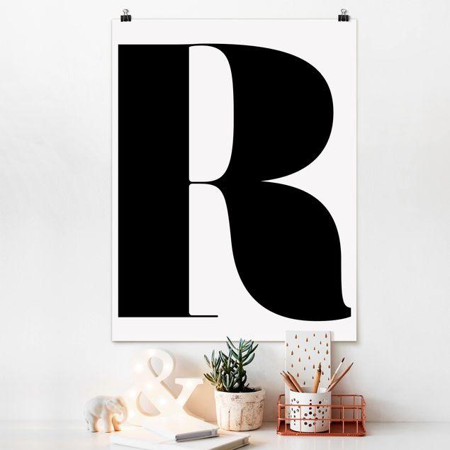 Poster - Antiqua Letter R - Hochformat 3:4