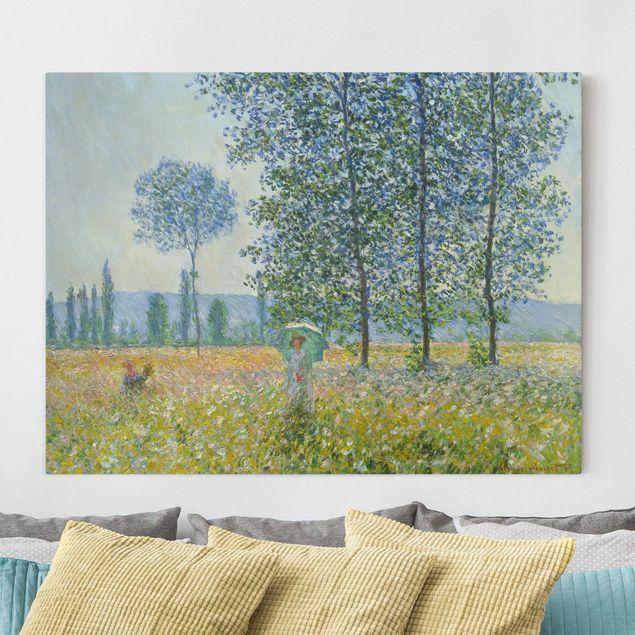 Leinwandbild - Claude Monet - Felder im Frühling - Querformat 3:4