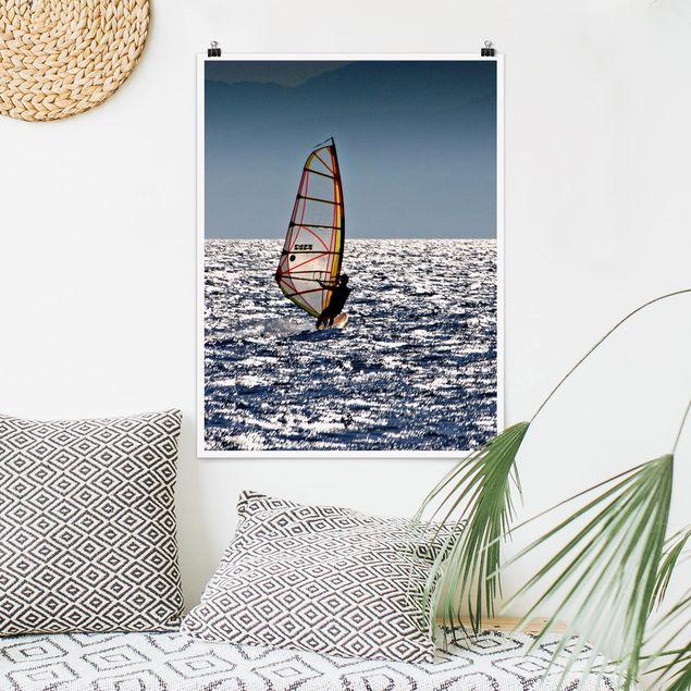 Poster - Surfing free - Hochformat 3:4