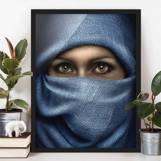 Bild mit Rahmen - Oriental Beauty - Hochformat 3:4