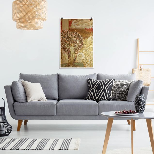 Poster - Galileo Chini - Dekoration der Terme Berzieri Detail 3 - Hochformat 3:2