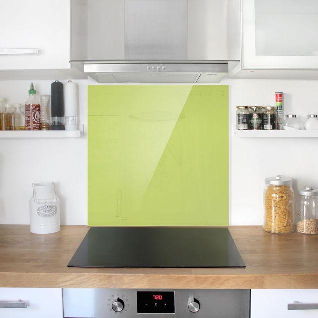 Glas Spritzschutz - Frühlingsgrün - Quadrat - 1:1