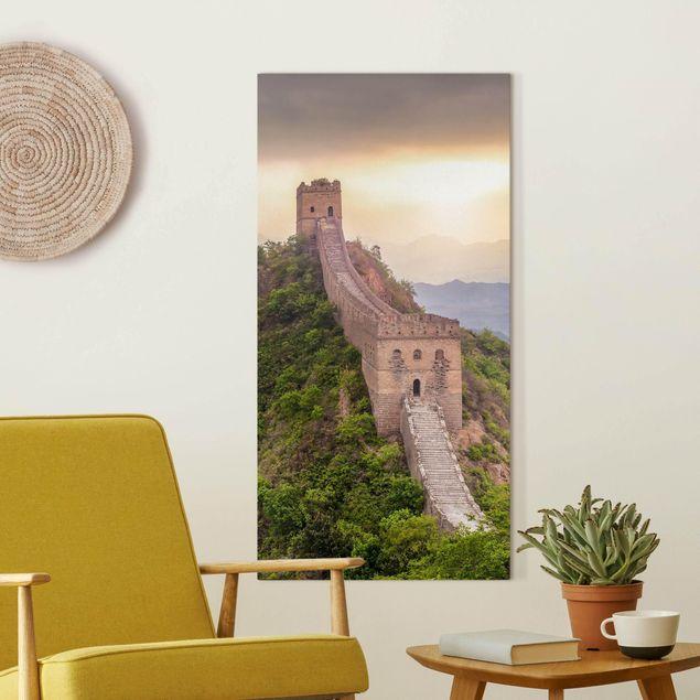 Leinwandbild - Die unendliche Mauer von China - Hochformat 1:2