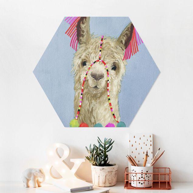 Hexagon Bild Forex - Lama mit Schmuck IV