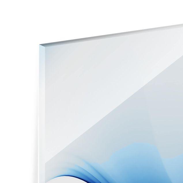 Glas Spritzschutz - Blaue Wandlung - Querformat - 4:3