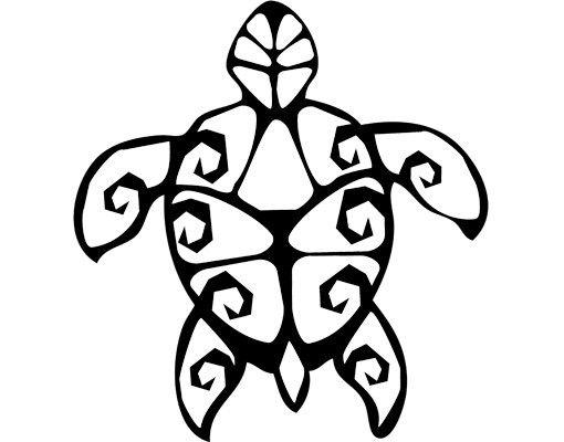Wandtattoo No.CG129 Turtle Tribal