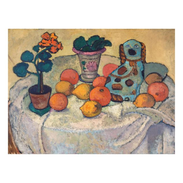 Glas Spritzschutz - Paula Modersohn-Becker - Stillleben mit Orangen - Querformat - 4:3