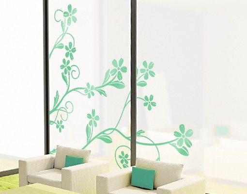 Fensterfolie - Fenstertattoo - No.IS29 Blütenranke - Fensterbilder Frühling