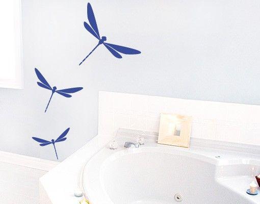 Wandtattoo Badezimmer - No.FB13 Libellen Wandtattoo Set