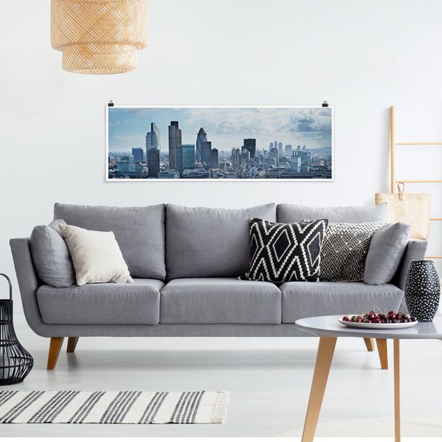 Poster - London Skyline - Panorama Querformat