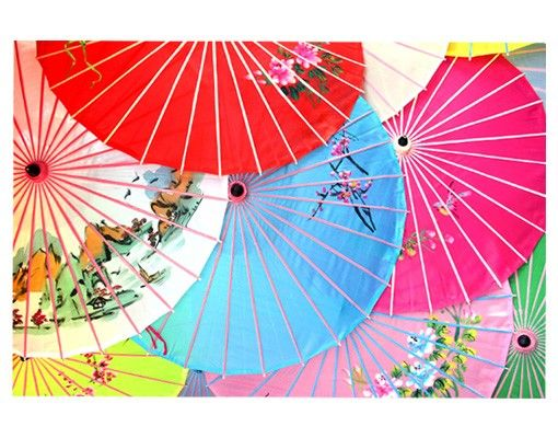 Fensterfolie - Sichtschutz Fenster Chinese Parasols - Fensterbilder