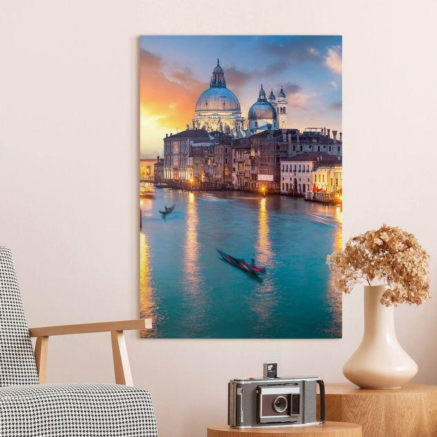 Leinwandbild - Sunset in Venice - Hochformat 2:3