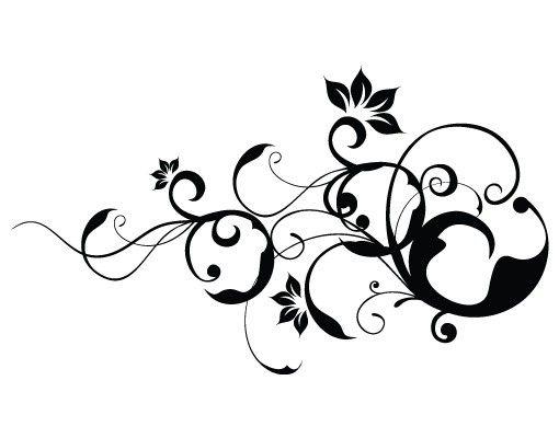 Wandtattoo Floral Ranke No.793 Floral II