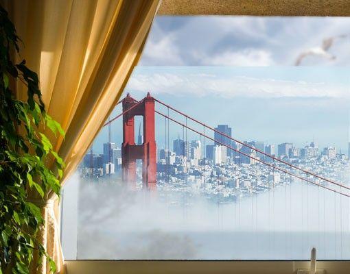 Fensterfolie - Sichtschutz Fenster Good Morning, San Francisco! - Fensterbilder