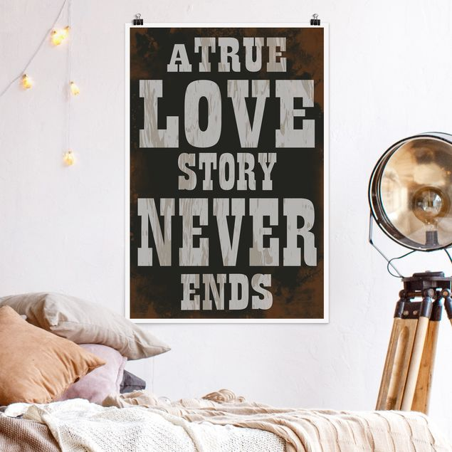 Poster - No.KA28 True Love - Hochformat 3:2