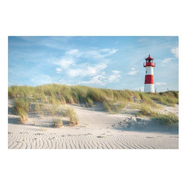 Leinwandbild - Leuchtturm an der Nordsee - Querformat 3:2