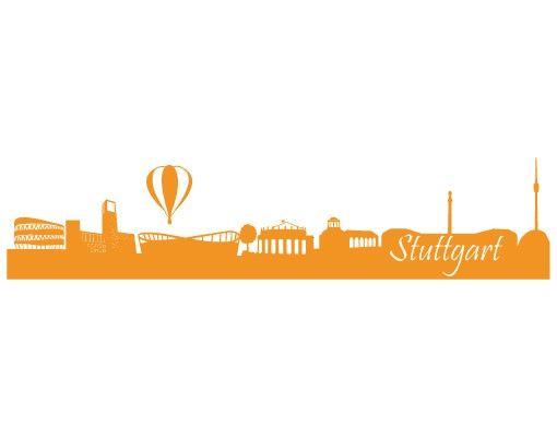 Wandtattoo Skyline No.FB21 Stuttgart Skyline I