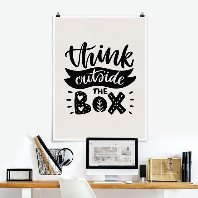 Poster - Think outside the box - Hochformat 3:4