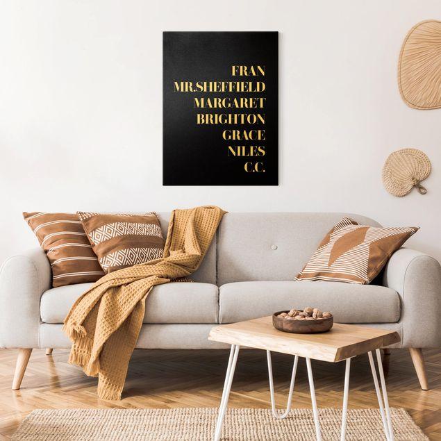 Leinwandbild Gold - Lieblingsserien - Die Nanny Schwarz - Hochformat 3:4