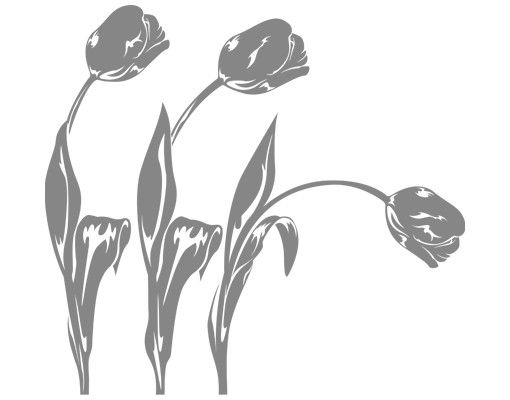Wandtattoo Tulpe Floral No.IS82 Tulpen Set