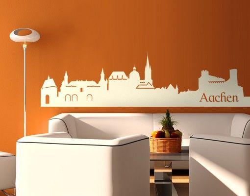 Wandtattoo Skyline No.EG44 Aachen Skyline ll