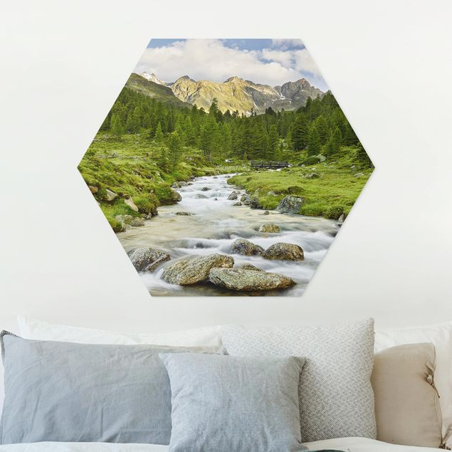 Hexagon Bild Forex - Debanttal Nationalpark Hohe Tauern
