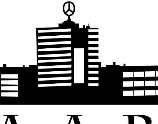 Stadt Saarbrücken - Wandtattoo Skyline - No.ML5 Saarbrücken Skyline I