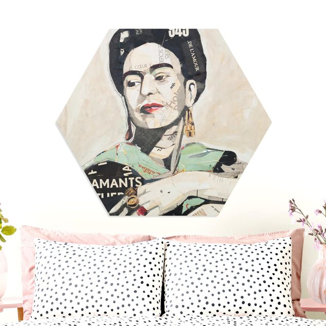 Hexagon Bild Forex - Frida Kahlo - Collage No.4
